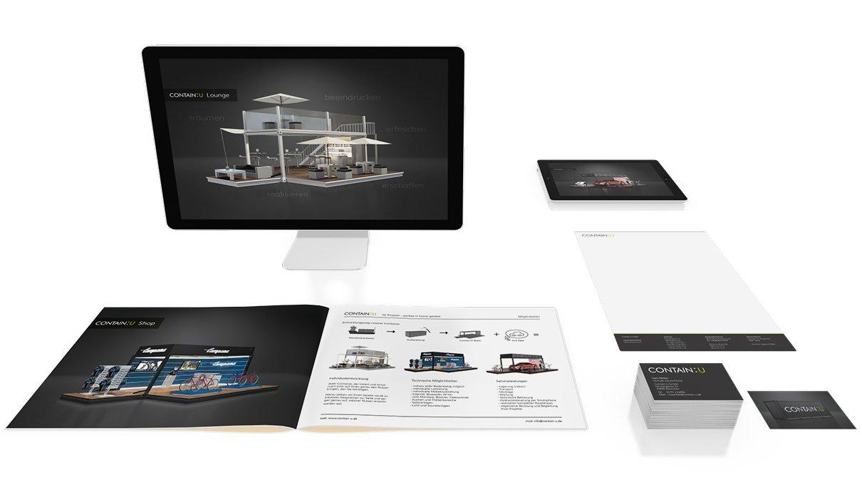 Lichtweber ContainU Corporate Design Ansicht